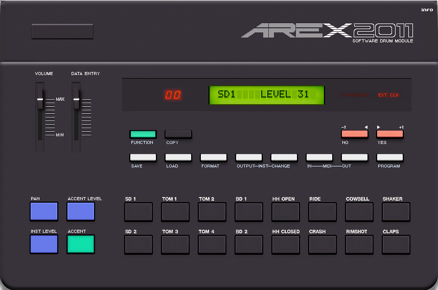 arex 2011 free yamaha rx 11 drum module vsti plugin. Black Bedroom Furniture Sets. Home Design Ideas
