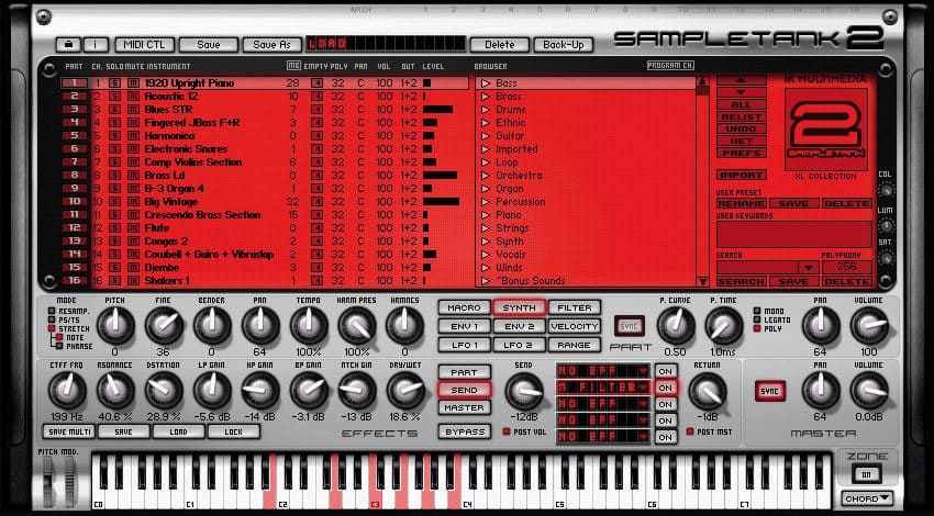 SampleTank Free by IK Multimedia.