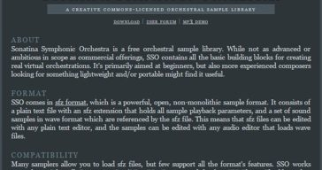 Sonatina Symphonic Orchestra (FREE Orchestral Sample Library)!
