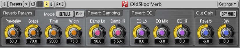 OldSkoolVerb is a free reverb VST plugin by Voxengo.
