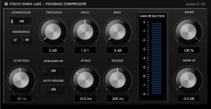 TDR Feedback Compressor by Tokyo Dawn Labs.