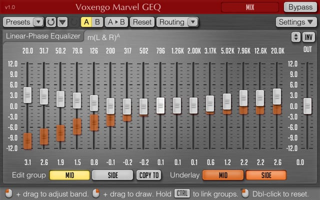 Graphic equalizer for pc