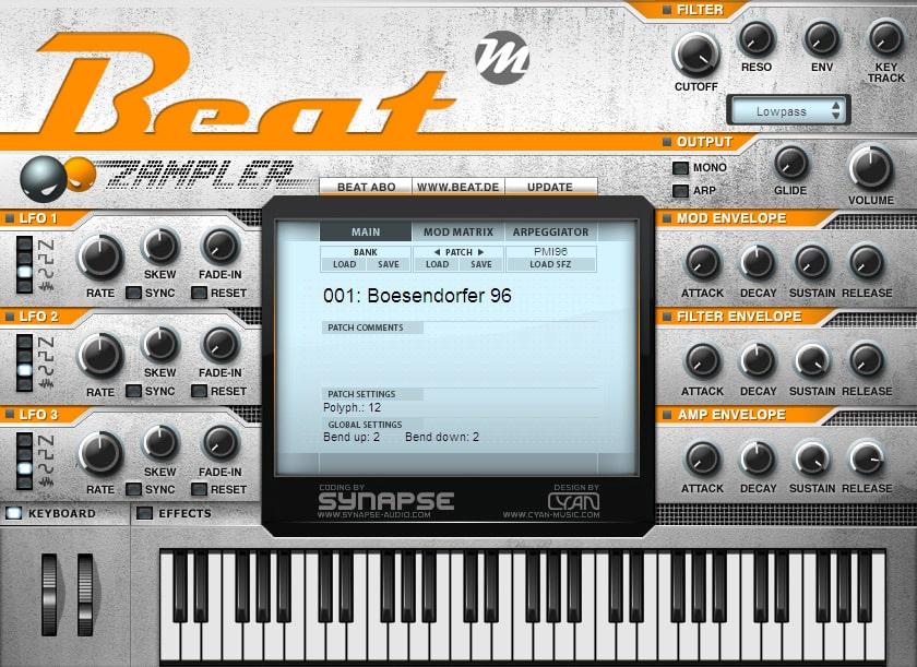 Beat Zampler - Free SFZ Workstation By Synapse Audio (VSTi + AU