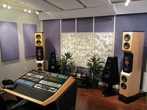 Mastering room at Sage Audio.
