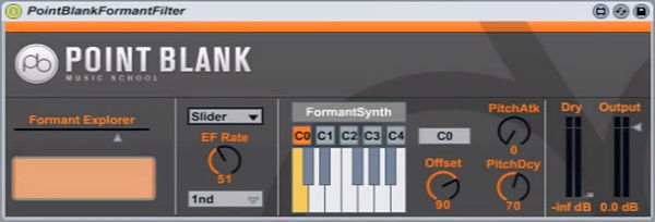 Formant Filter - Free M4L Plugin Released By Point Blank Online600