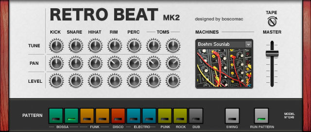 retro beat mk2 free ni reaktor drum machine by boscomac bedroom producers blog. Black Bedroom Furniture Sets. Home Design Ideas