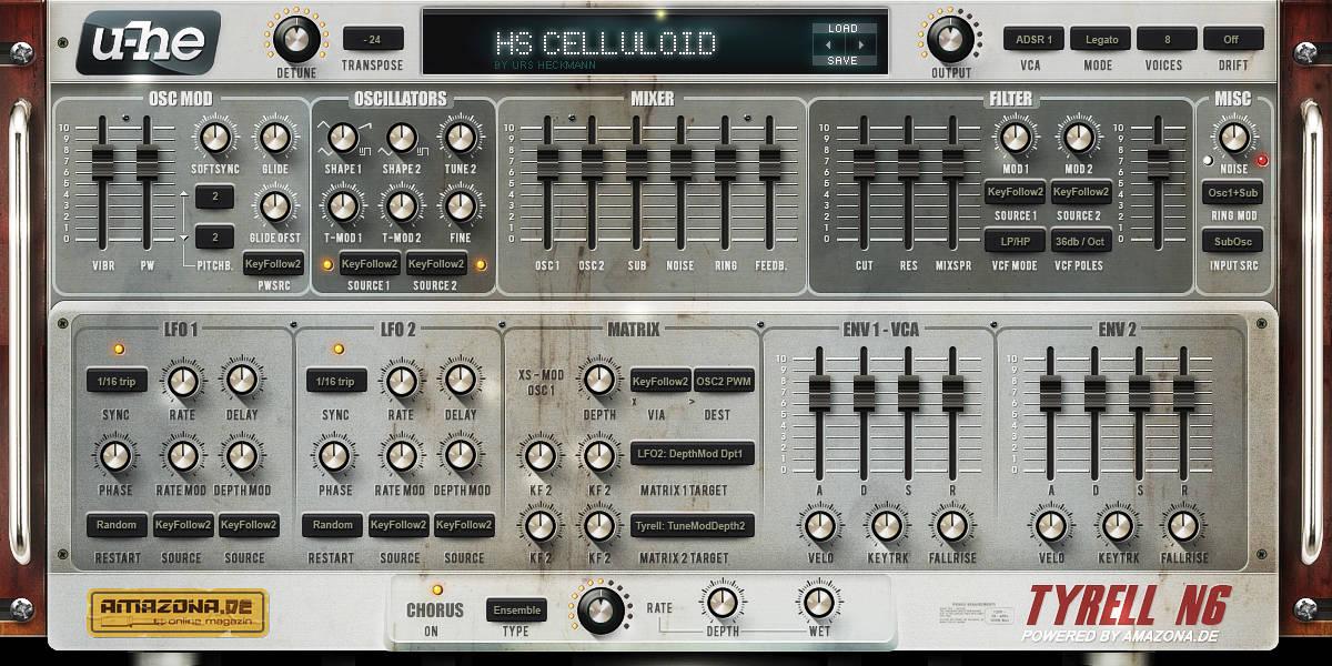Tyrell N6 V3 by U-He - Free Synth VST Plugin