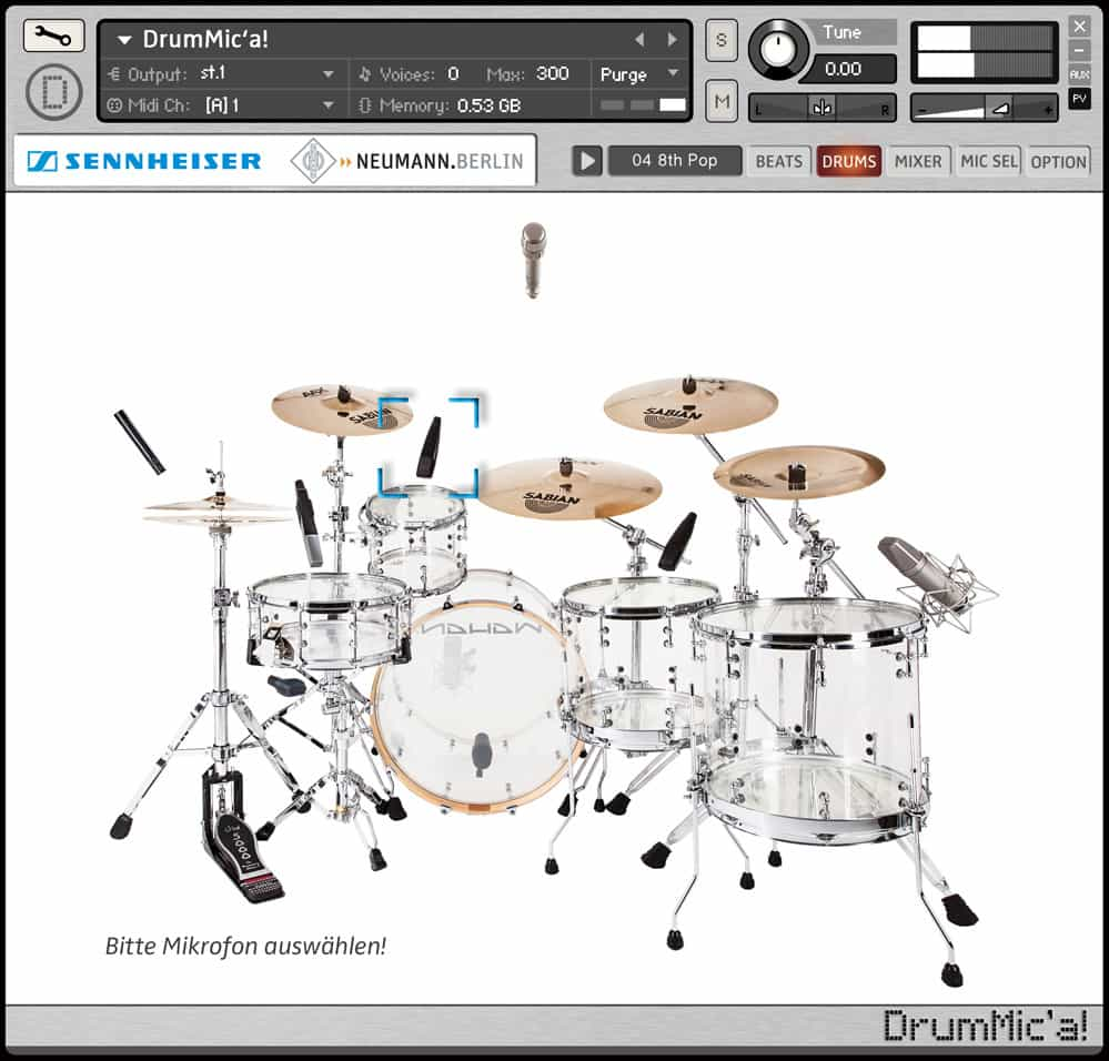 DrumMic'a - A Free Acoustic Drum Sample Library By Sennheiser