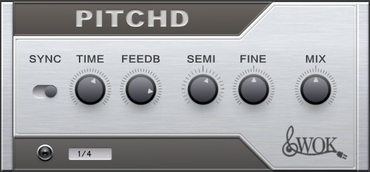 PITCHD - Free Pitch Shifting Delay VST Plugin Released By WOK