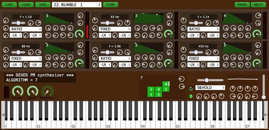 Dexed - Free FM Synthesizer VSTi Plugin Released By Digital Suburban