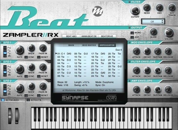 Zampler RX by Beat Magazine.