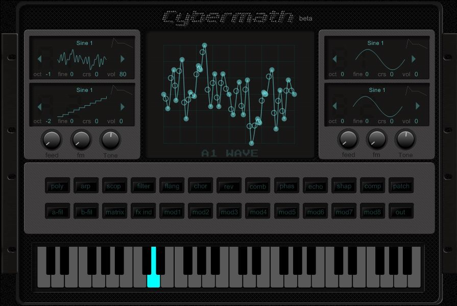 Cybermath is a free wavetable synthesizer VSTi plugin.