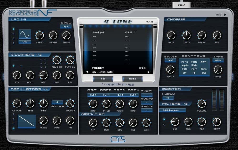 4 Tune virtual synthesizer by Noizetune.