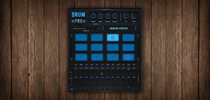drum pro free drum machine vsti plugin by studiolinkedvst bedroom producers blog. Black Bedroom Furniture Sets. Home Design Ideas