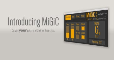 MiGiC is a free guitar to MIDI VST/AU plugin by Bituosity.