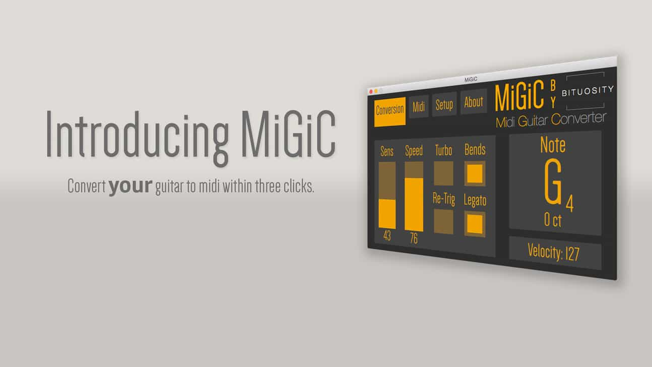 Freeware Guitar To MIDI VST/AU Plugin By Migic Music