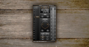 HOFA 4U Meter, Fader & MS-Pan by HOFA Plugins.
