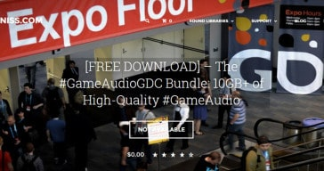 Free GameAudioGDC Bundle sound library by Sonniss.