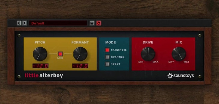 Little AlterBoy free vocal processor by SoundToys.