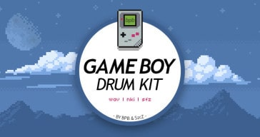 Game Boy Drum Kit free 8-bit sample pack (WAV/NKI/SFZ)