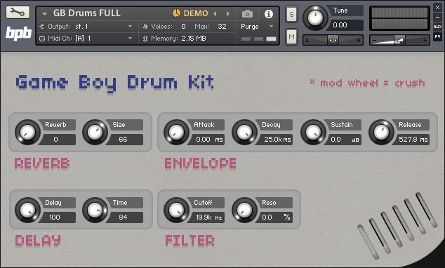 Simple NKI patch called GB Drums.