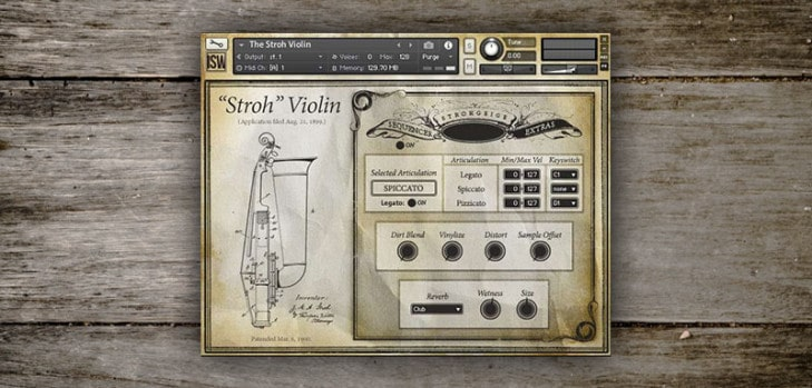 Free Stroh violin sample library by Impact Soundworks.