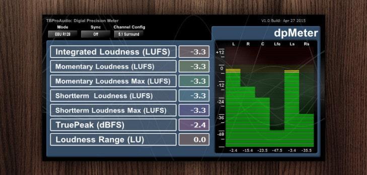 dpMeter - Freeware Multi-Channel Meter VST plugin by TBProAudio.