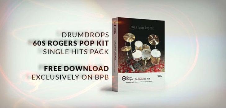 Drumdrops 60s Rogers Pop Kit FREE DOWNLOAD.