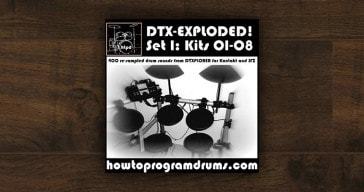 Free DTX – Exploded drum kit by Neil Paddock.