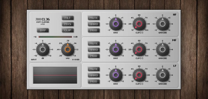 CL36 free multi-band clipper VST plugin by J1000.