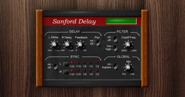 FREE Sanford Delay VST plugin by Leslie Sanford.