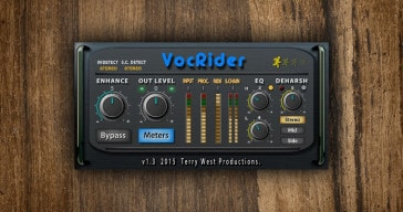 Free vocal rider VST plugin by Terry West.
