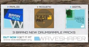 Free drum samples by WaveShaper.