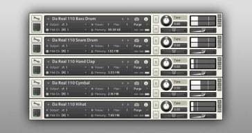 Da Real 110 - Free BOSS DR-110 drum machine samples by Synth-In.