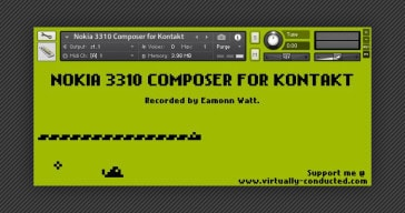 Nokia 3310 Composer free sample library for NI Kontakt.