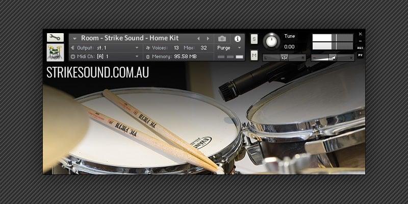 Free Home Kit Drum Sample Pack By Strike Sound (NKI/WAV/SFZ ...