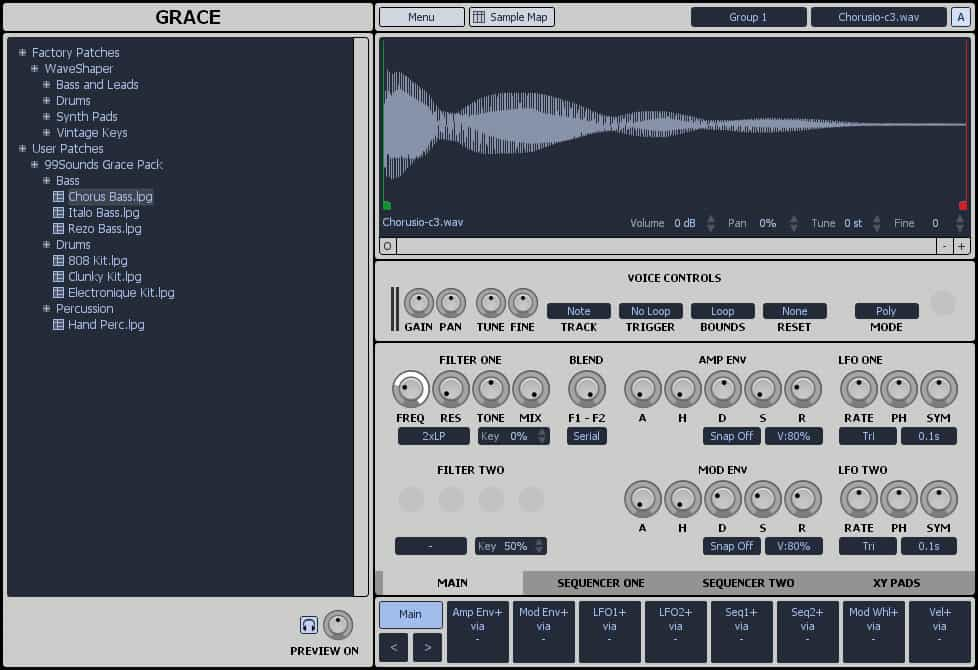 FREE Grace Sampler VST plugin by One Small Clue.