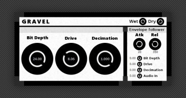 Gravel FREE distortion VST plugin by Taiga DSP.