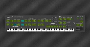 FREE XM2 Digital Synthesizer VSTi plugin by Music-Society.