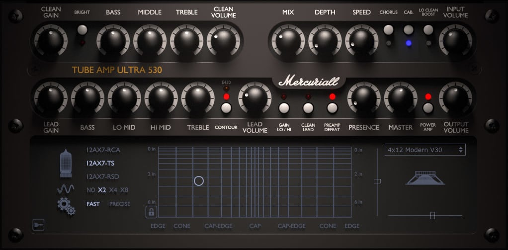 u530 free guitar amplifier vst plugin by mercuriall audio. Black Bedroom Furniture Sets. Home Design Ideas