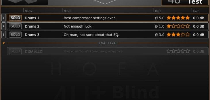 HOFA 4U+ BlindTest Free Track Comparison VST Plugin