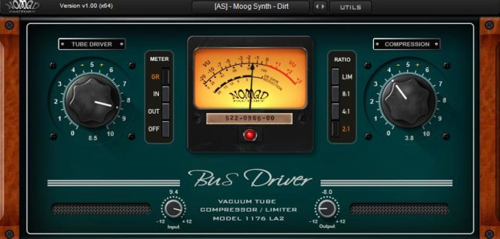 Free Bus Driver VST Plugin by Nomad Factory.
