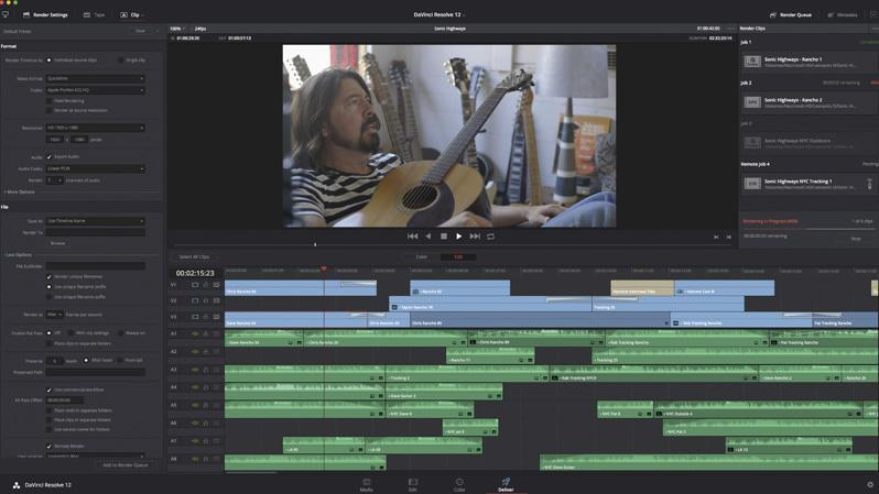 DaVinci Resolve 12 by Blackmagic Design.