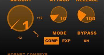 FREE HoRNet CompExp Compressor/Expander by HoRNet Plugins.