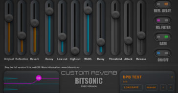 FREE Custom Reverb VST Plugin by Bitsonic!