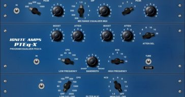 Free PTEq-X Virtual Passive Program Equalizer VST/AU Plugin by Ignite Amps.