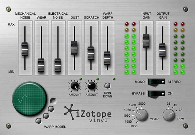iZotope's FREE Vinyl Lo-Fi VST/AU/RTAS Plugin Goes 64-bit!