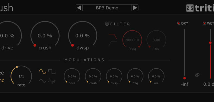 FREE Krush Bitcrusher/Distortion/Filter VST/AU Plugin by Tritik!