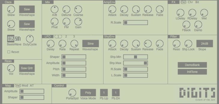 FREE Digits 2 Phase Distortion Synthesizer.
