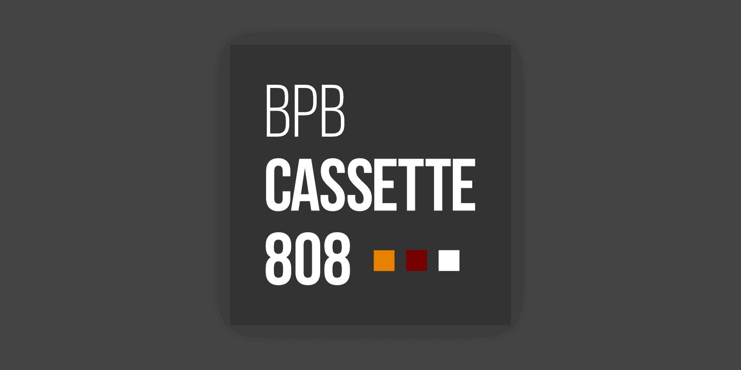 BPB Cassette 808 (Free 808 Drum Sample Pack)